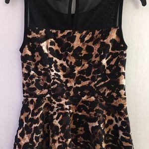 522903ad025e9c Thalia Sodi Tops | Leopard Print Peplum Top | Poshmark